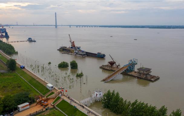 江西:長江九江段水位逼近1998年曆史最高水位